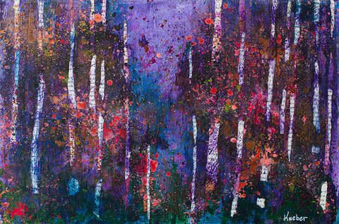 Purple Trees Original Painting