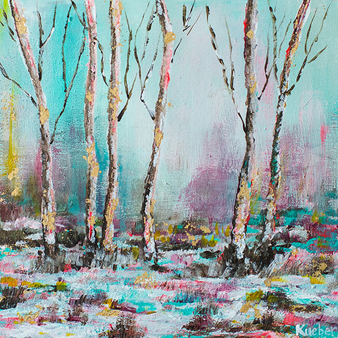 Winter Trees 2 Original Painting