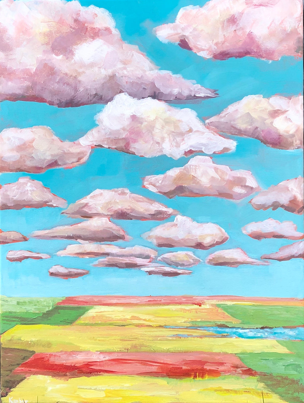 Clouds and Canola 1 - Original