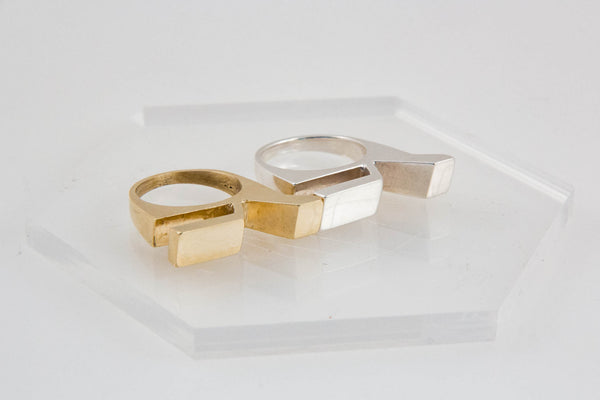 Trench Slice Stackable Ring