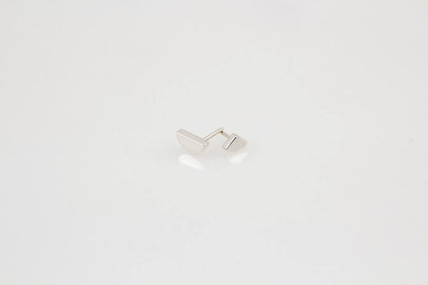 Mixed Moon Studs: Silver