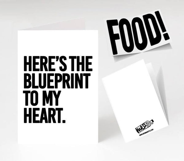 Blueprint to My Heart Card