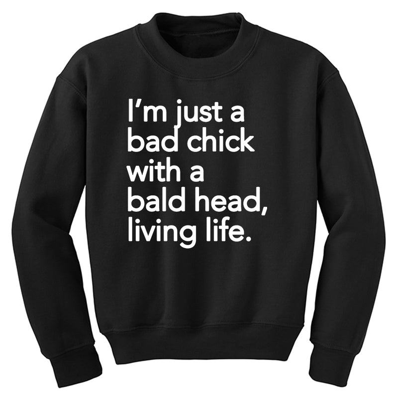 Bald Chick Just Living Tee