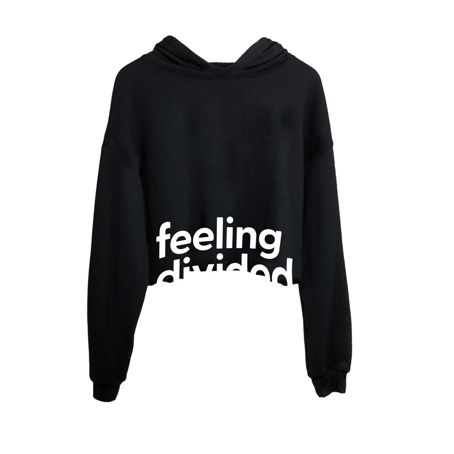 Feeling Divided Cropped Hoodie