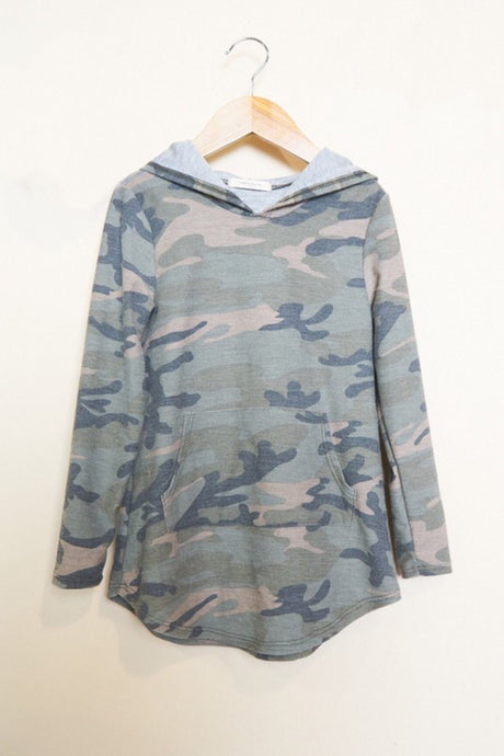 Kids Camo Hooded Dress