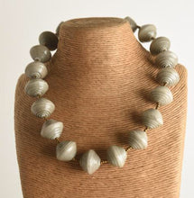 Paper Bead Statement Neckace