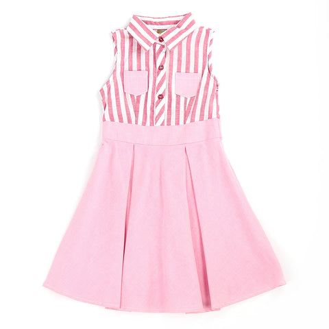 PACEY PINK STRIPE SHIRT DRESS
