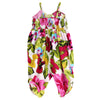 FIJI JUMPSUIT- HOT PINK TROPICAL FLORAL