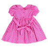 HEATHER HOWELL'S POLKA DOTS HAND SMOCKED DRESS- Hot Pink