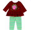 HAPPY BABY TURKEY SET- BURGUNDY & GREEN