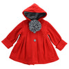 JESSIE DOUBLE FLEECE JACKET- BRIGHT RED