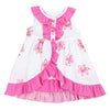 KIMMY RUFFLED TIERED DRESS- PINK