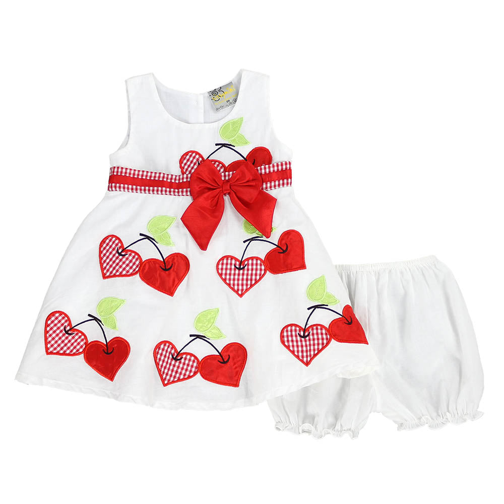 SWEET CHERRY DRESS- RED
