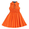 FIONA GABRIELLE COLLAR DRESS- ORANGE