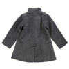 ANA-LIZA WOOL BLEND RUFFLES PEACOAT- ASH GRAY