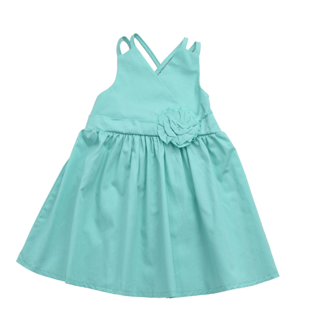 JENNIE ANN DRESS- TIFFANY BLUE
