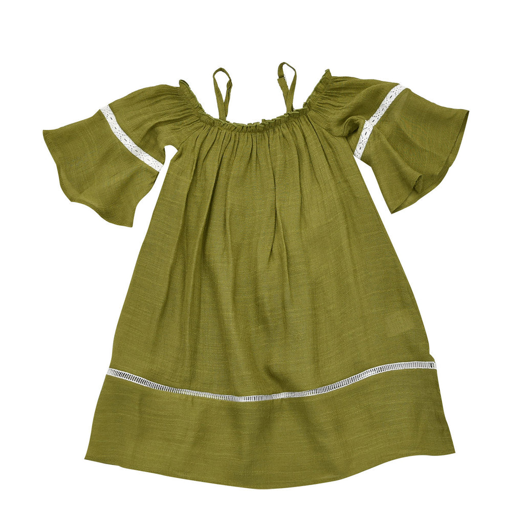 OLIVE-MADELINE OFF-SHOULDER DRESS