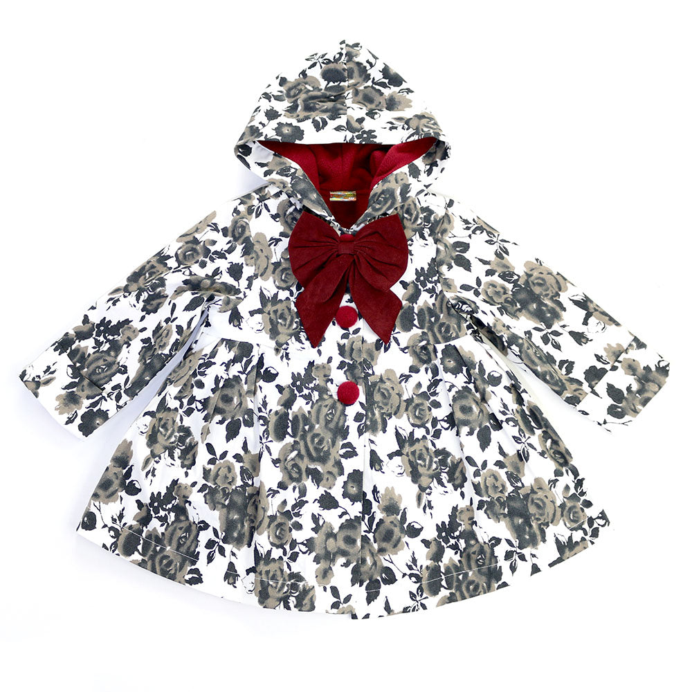 ROSE JACKET- MONOCHROME WITH DEEP RED