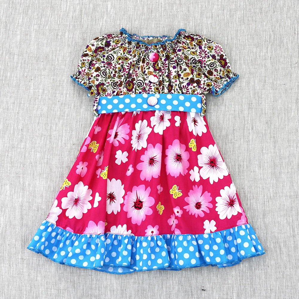UPSY DAISY DRESS- PINK