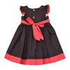 POPPY FIELD DRESS- CHARCOAL GRAY
