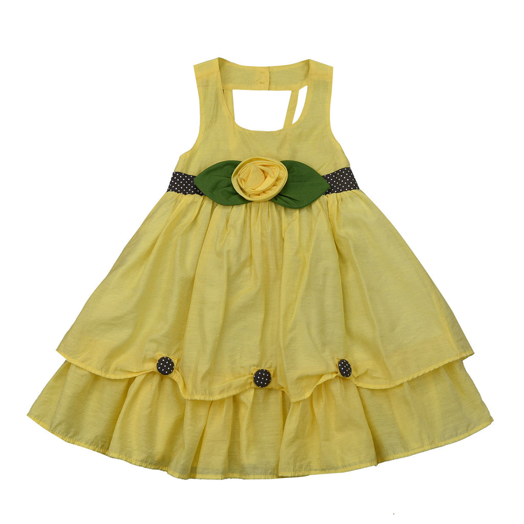 PRINCESS SISSY DRESS- YELLOW