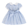 BECKY BRADD'S HAND SMOCKED DRESS- Light Aqua