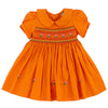 MARMALADE SWEETIE- Hand Smocked Dress in TANGERINE