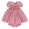 PAISLEY PACINO'S PLAID HAND SMOCKED DRESS- Pastel Pink