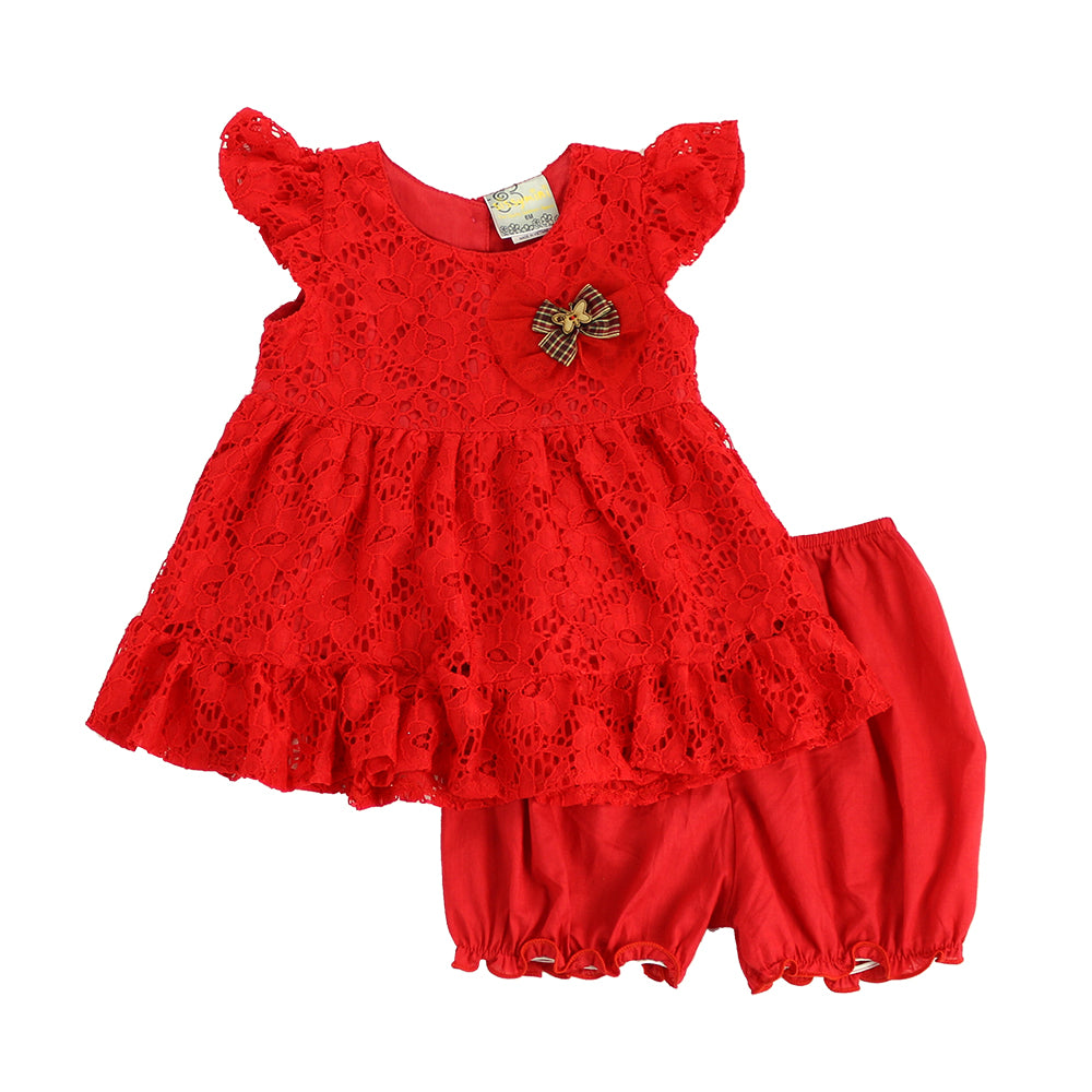CLEO BABY DRESS- RED