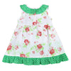 KIMMY RUFFLED TIERED DRESS- GREEN
