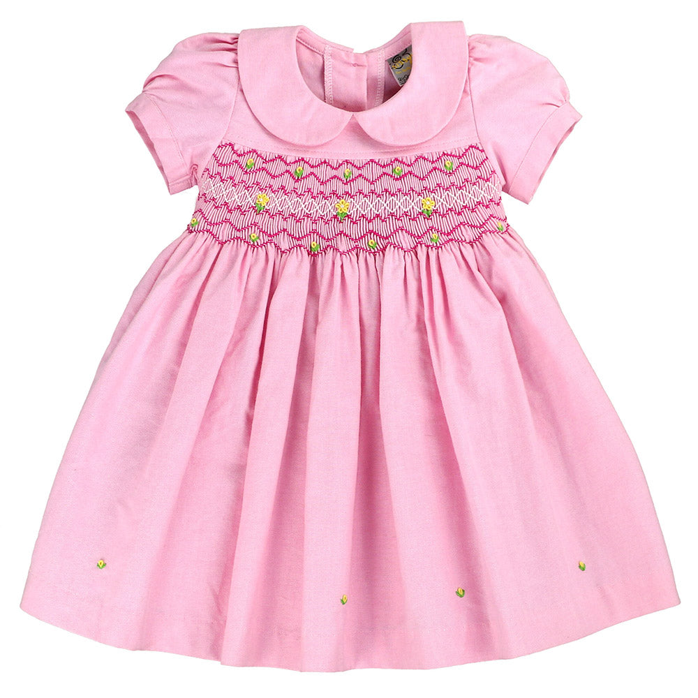 MIA NATALIA SMOCKING DRESS- HEAVENLY PINK