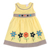 HAND PAINTED FLOWER DRESS- YELLOW