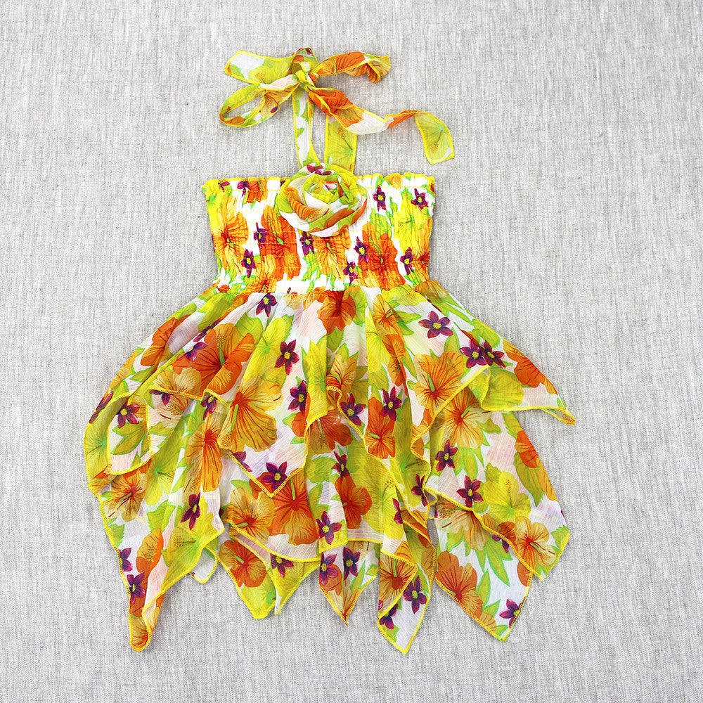 HIBISCUS HANDKERCHIEF DRESS