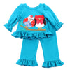 RUFFLE DOLL PLAYWEAR SET- TEAL