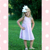 SWEET JULIE DRESS- DUST PINK STRIPE