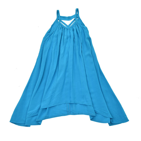 BLUE- SWING AWAY DRESS