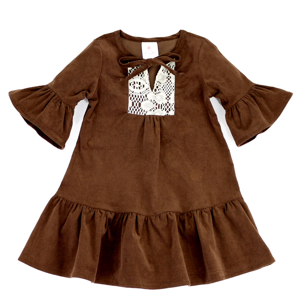 FABULOUS CHIC DRESS- CHOCOLATE BROWN