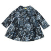 SALMA SWING JACKET- GRAY BLUE ROSES