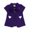 ZOEY CAPE CARDIGAN- PURPLE