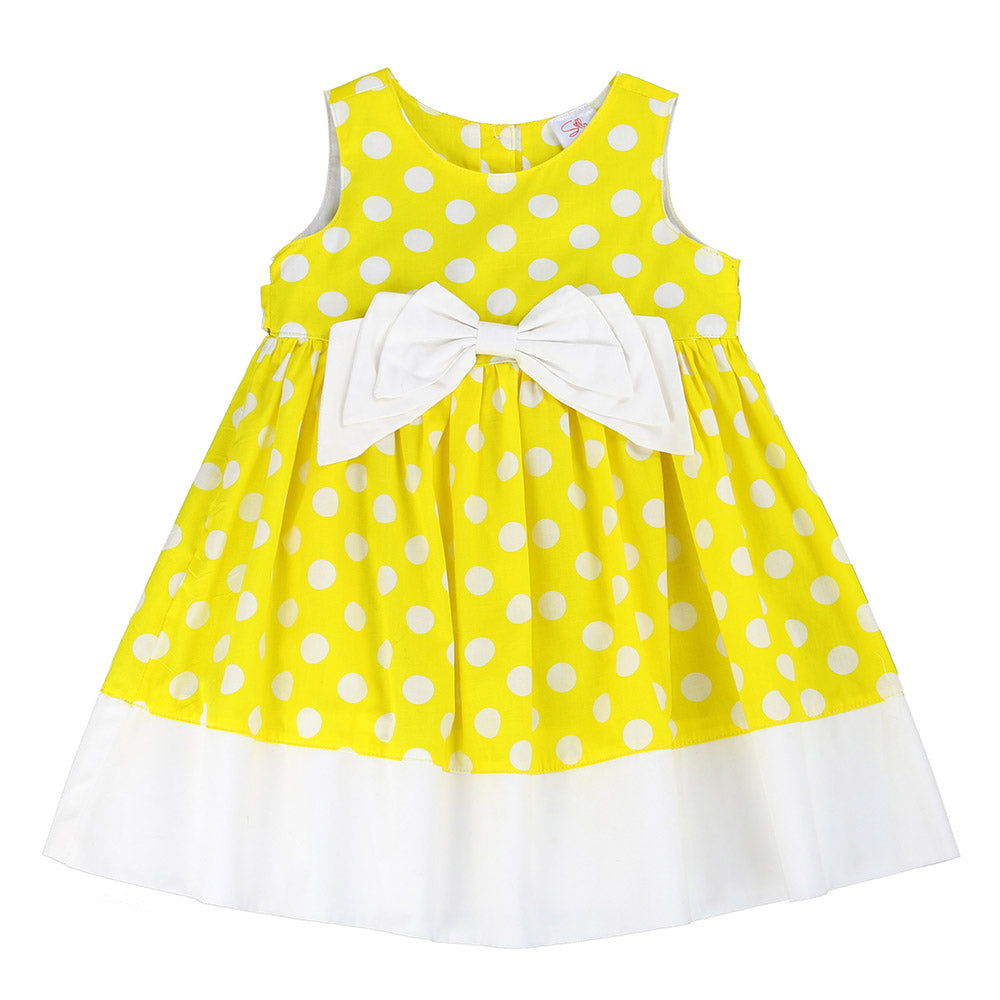 BOW-TERFLY DRESS- YELLOW