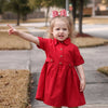 SWEETHEART SHIRT DRESS- RED