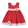 POPPY FIELD DRESS - Red Gray