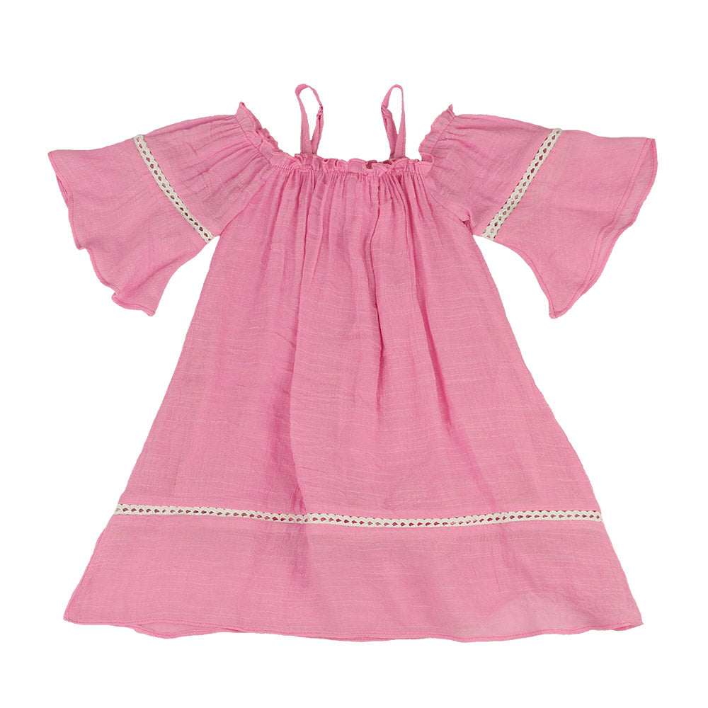 CANDY PINK-MADELINE OFF-SHOULDER DRESS