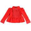 KISS OF JOY ZIP-UP JACKET- RED