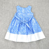BOW-TERFLY DRESS- VINTAGE BLUE