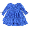 PRINCESS CHARLOTTE Lace Dress - SAPPHIRE BLUE