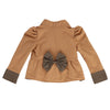 KISS OF JOY ZIP-UP JACKET- TAUPE