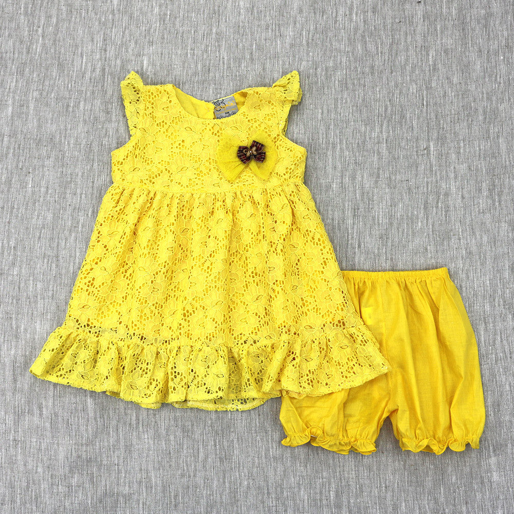 SEEK AND  YA SHALL FIND DRESS- YELLOW