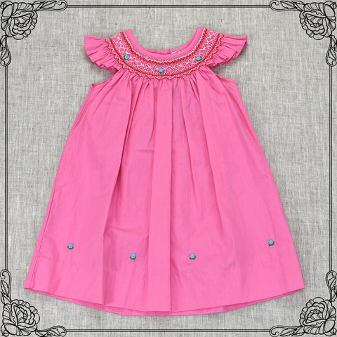 ADELE MICHELLE SMOCKING DRESS- PINK