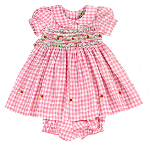 PRECIOUS IN PINK - Gingham Smocking Dress